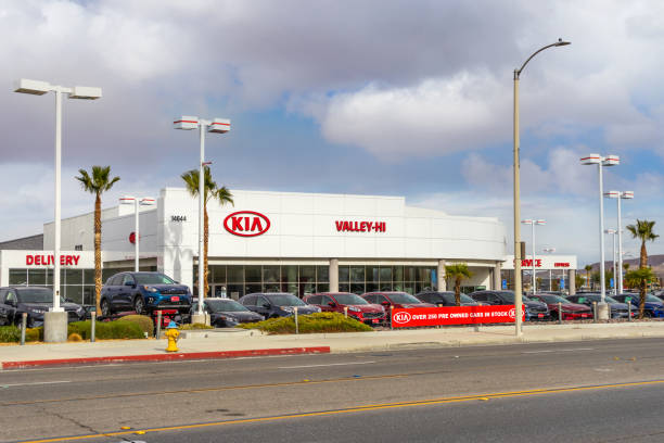 Valley Hi Kia car dealership stock photo