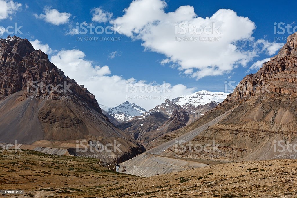 Valley in Himalayas royalty-free stock photo