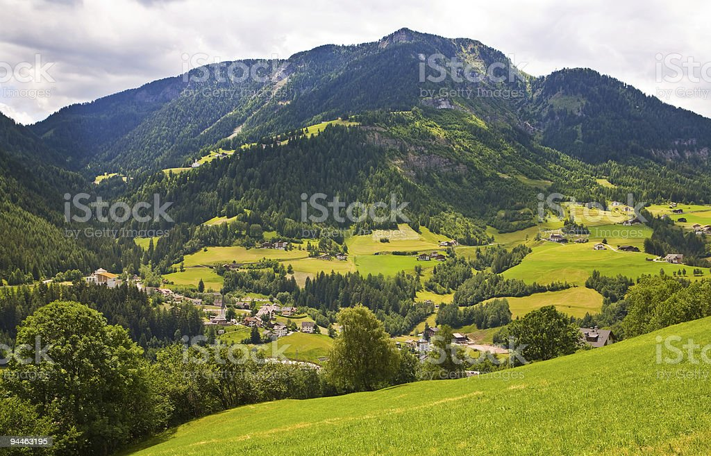 Valley in the Alps royalty-free stock photo