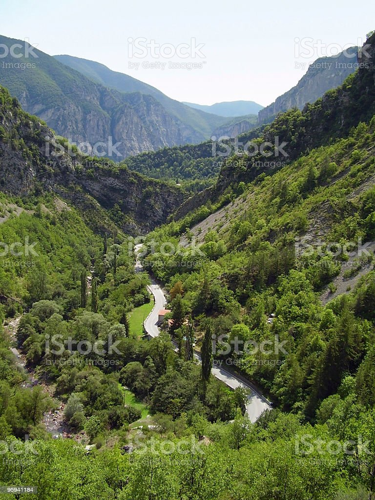 valley in the French Alps royalty-free stock photo
