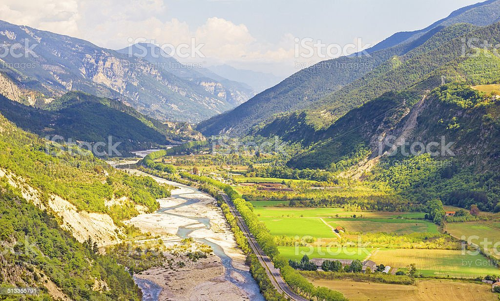 Valley in the South of France stock photo