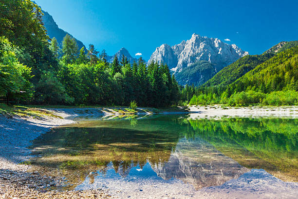 valley in the triglav national park, julian alps, slovenia - 斯洛維尼亞 個照片及圖片檔