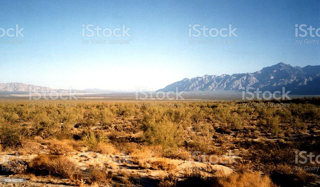 Paisaje del valle de Baja California, México - foto de stock