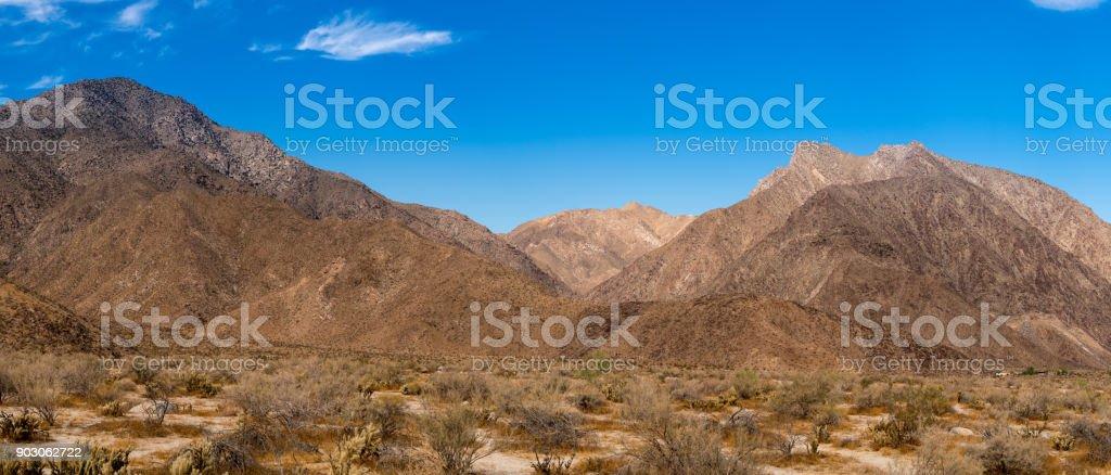 Valley near Borrego Springs in California desert stock photo