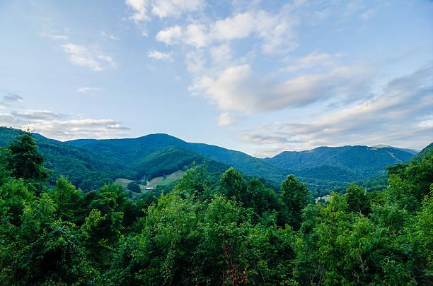valley near maggie valley north carolina stock photo