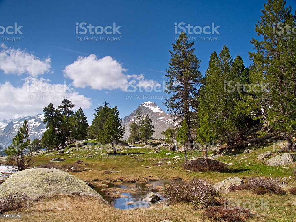 Valley of Benasque royalty-free stock photo