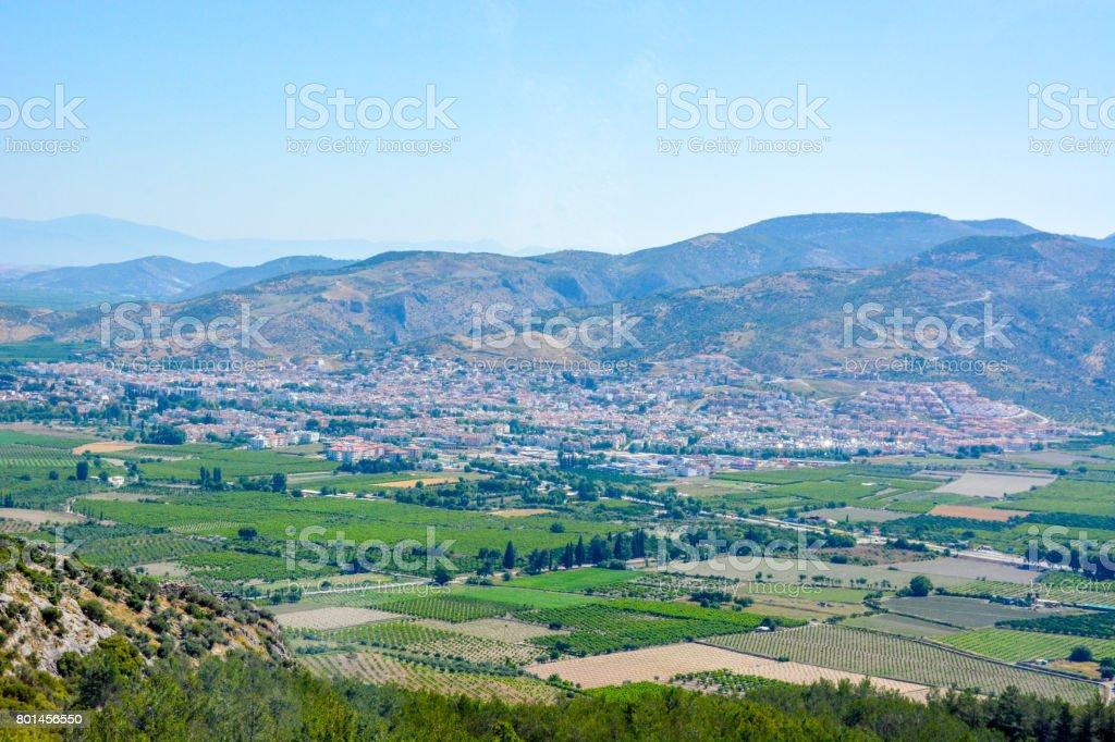 Valley of Ephesus in Turkey stock photo