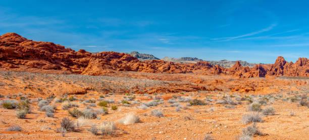 valley of fire aztec sand stens panorama - vildmark bildbanksfoton och bilder