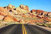 Valley of Fire State Park is a public recreation and nature preservation located 50 miles northeast of Las Vegas