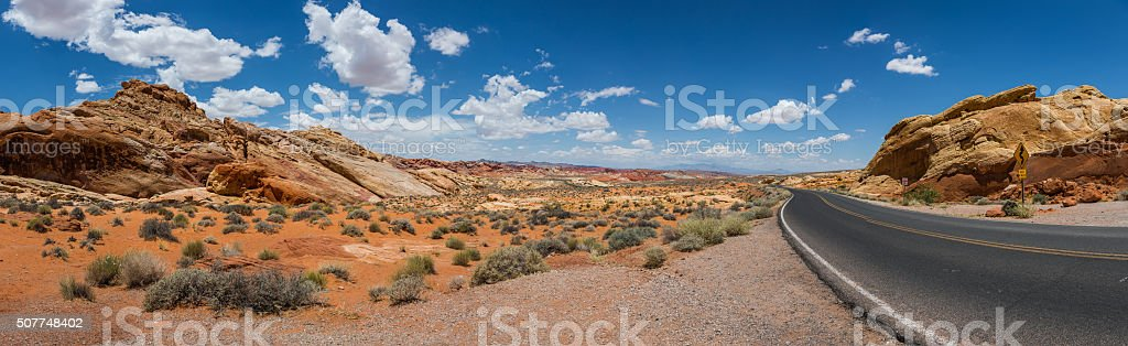 Valley of Fire. Nevada USA Panoramic View stock photo