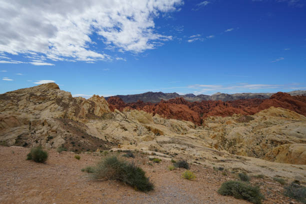 Valley of Fire SP - Erosion of Landform stock photo
