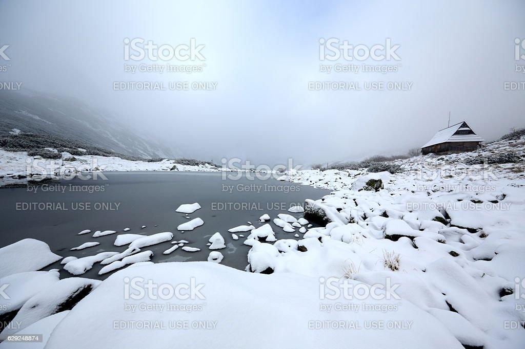 Valley of Five Polish Ponds , Tatra Mountains, Poland stock photo