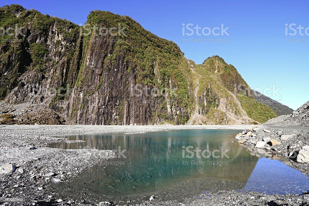Valley of  Fox Glacier stock photo
