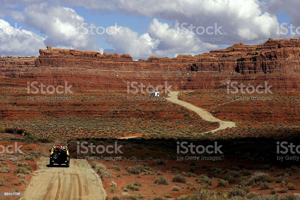 Vallée des dieux, Utah photo libre de droits