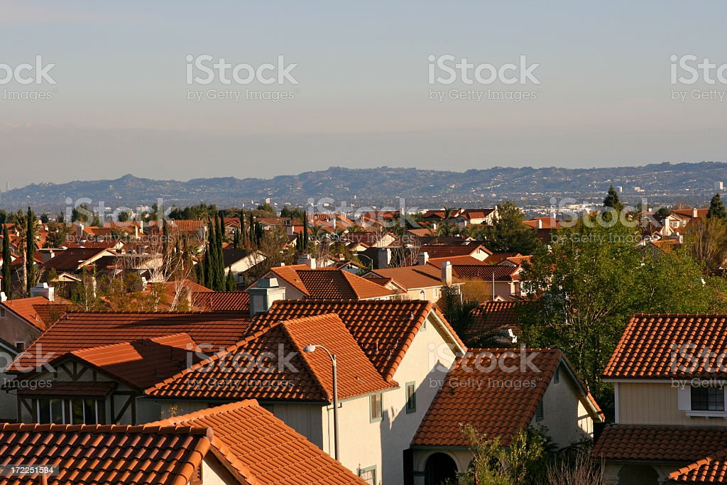 Valley of Homes stock photo