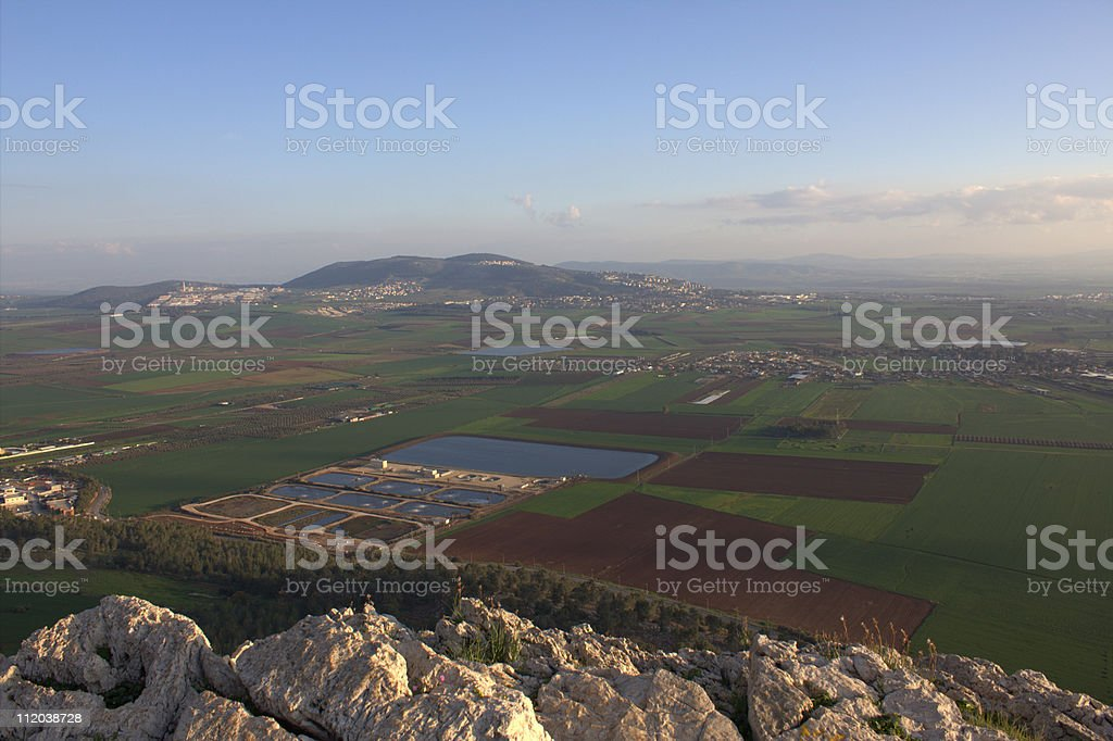 Valley of Jezreel from Mount Precipice stock photo