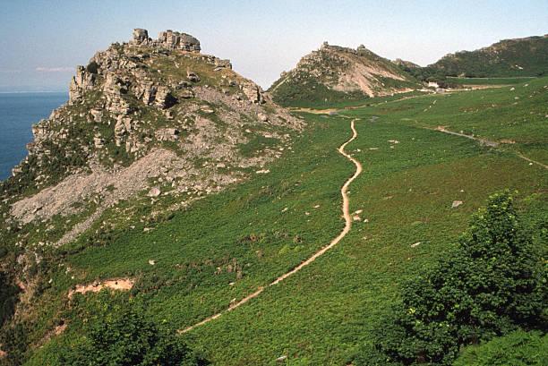 Valley of Rocks stock photo
