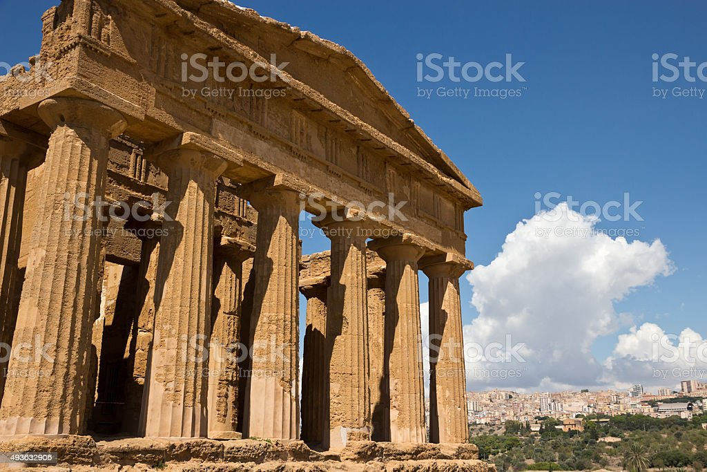Valley Of Temples - Temple of Concordia, Agrigento stock photo