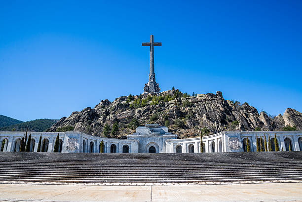 valley of the fallen, madrid, spain. - valley stock pictures, royalty-free photos & images