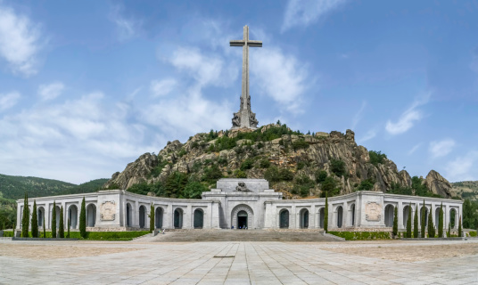 Valley of the Fallen (Valle de los Caidos) Madrid, Spain. This is a monument to the fallen during the Spanish civil war.