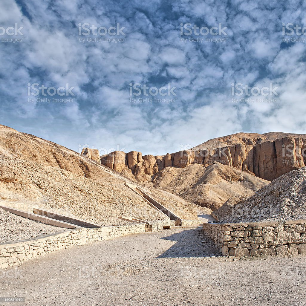 Valley of the kings, Egypt. stock photo
