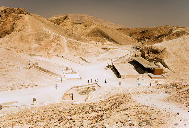 Valley of the kings A view of the Valley of the Kings in Egypt. valley of the kings stock pictures, royalty-free photos & images