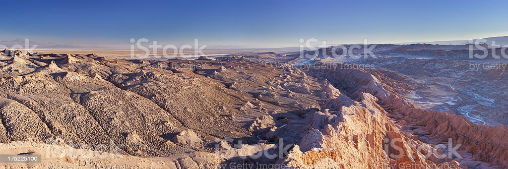 Valle de la Luna, Atacama Desert, Chile at sunset royalty-free stock photo