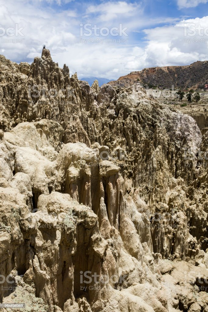 Valle de la luna in Bolivia royalty-free stock photo