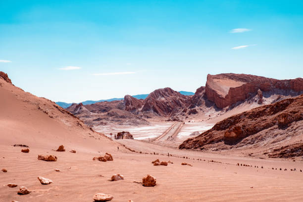Valley of the Moon in the desert of Atcama, Chile stock photo