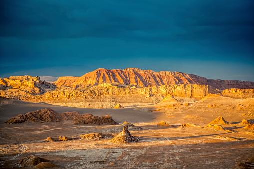 Valle de la Luna, Moon Valle at Sunset, Atacama Desert