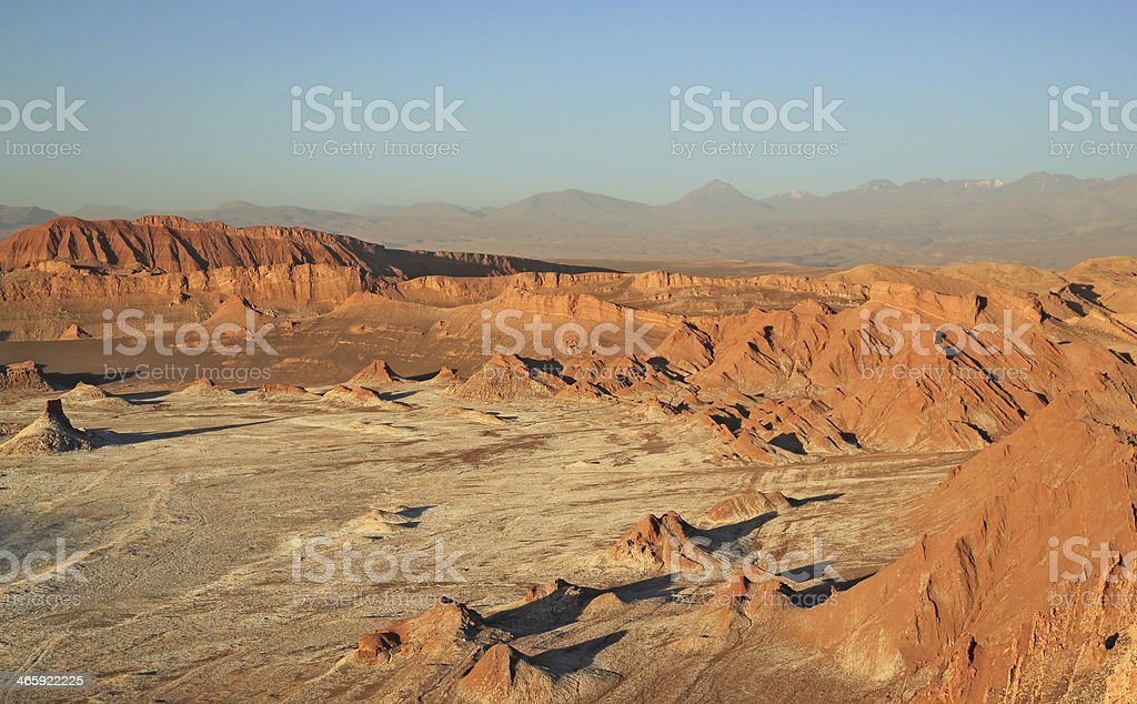 Valley of the Moon, San Pedro de Atacama, Chile stock photo