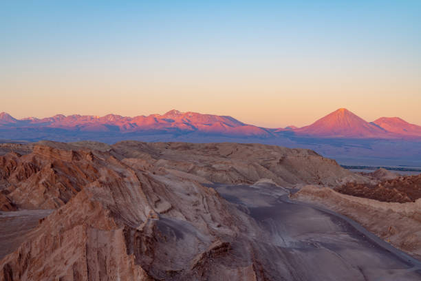 Valle de la Luna-Atacama Desert, Calama, Chile stock photo