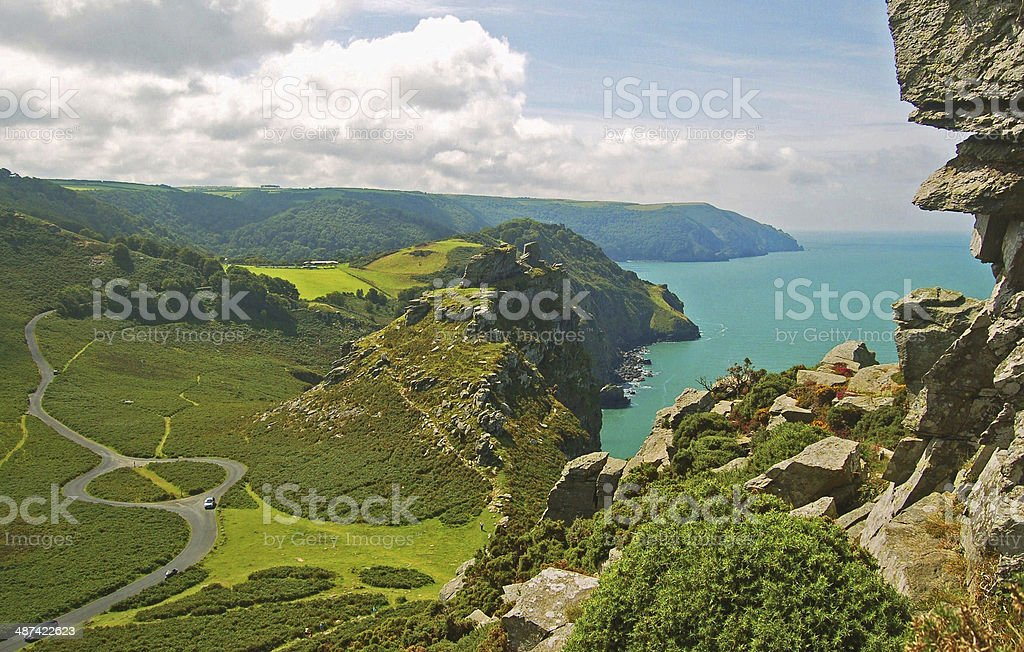 Valley of the Rocks. North Devon stock photo