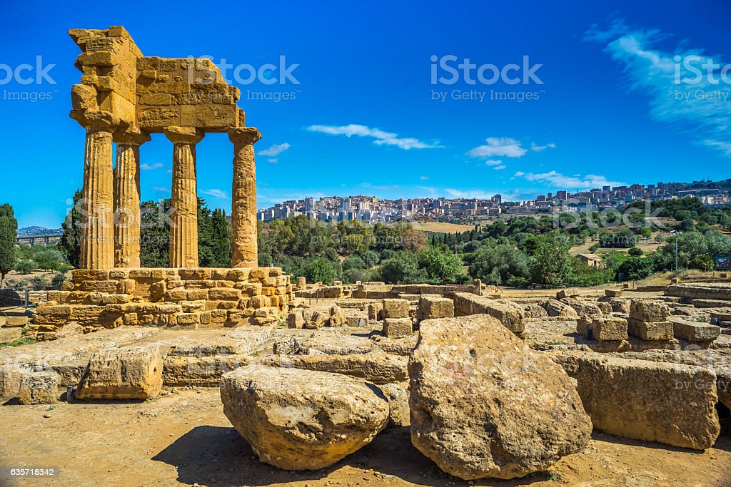Valley of the Temples. Agrigento, Sicily, Italy - foto stock