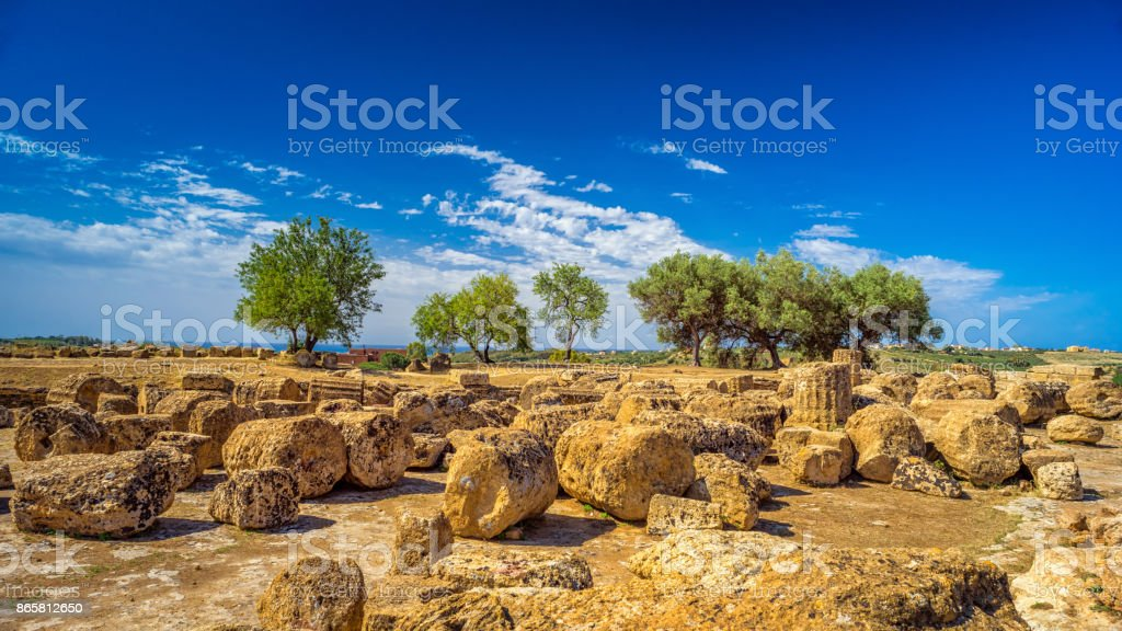 Valley of the Temples. Agrigento, Sicily, Italy stock photo