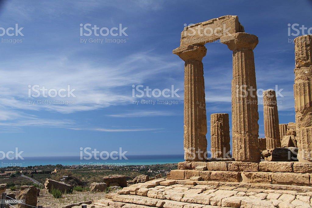 Valle dei templi Agrigento Sicilia, Italia unesco juno - foto stock