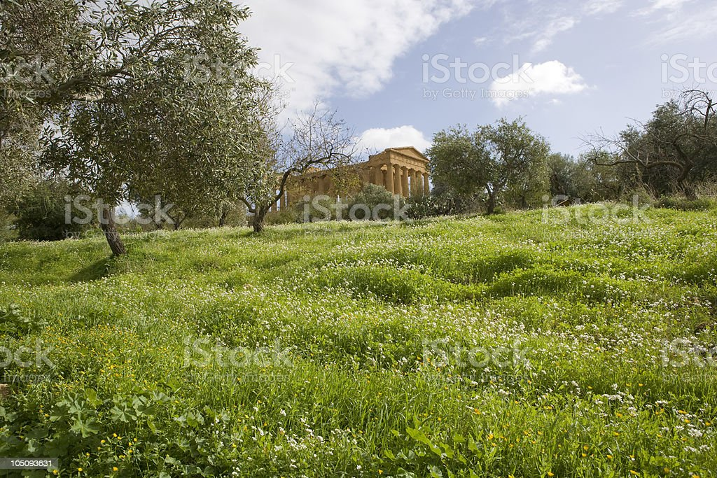 Valley of the Temples in Agrigento royalty-free stock photo