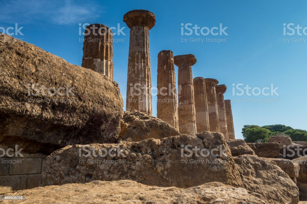 Valle dei Templi in Agrigento stock photo