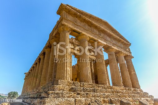 Concordia temple , Valle dei templi (valley of the temples), Sicily, Italy