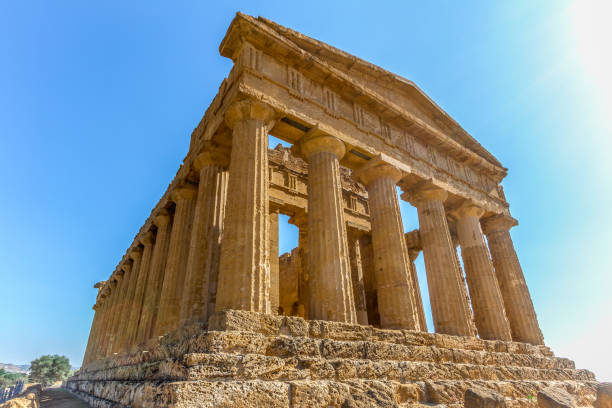 Valley of the Temples Concordia temple , Valle dei templi (valley of the temples), Sicily, Italy ancient greece stock pictures, royalty-free photos & images