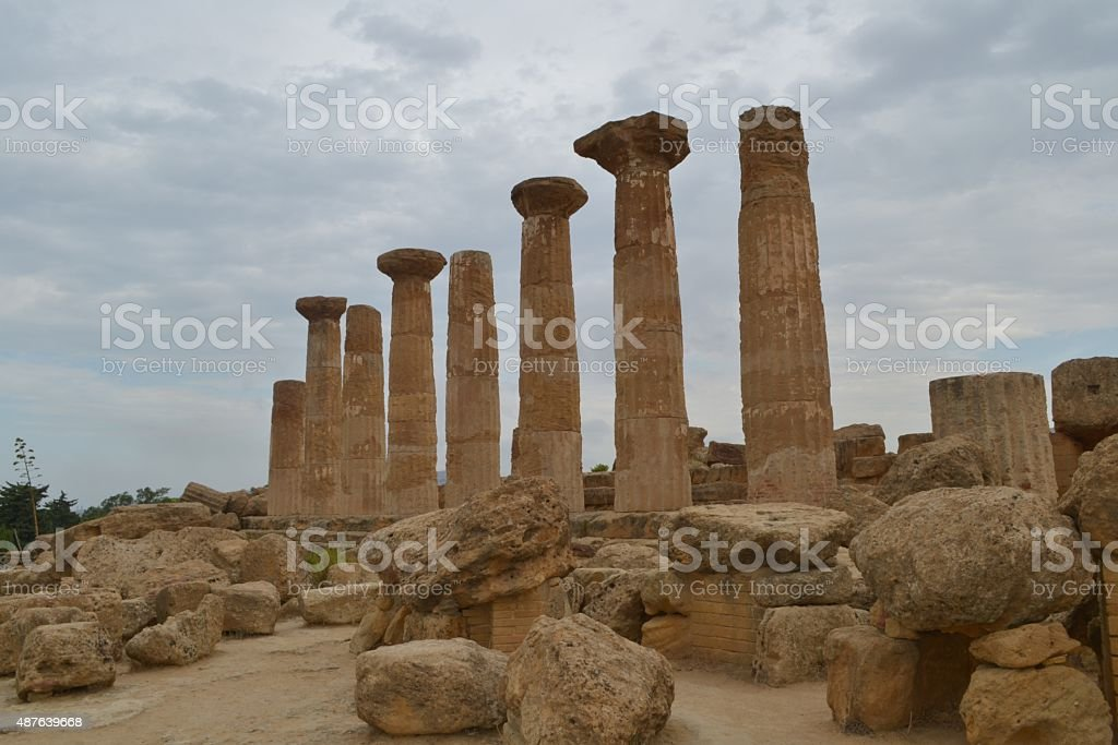 Valle dei Templi, Sicilia stock photo
