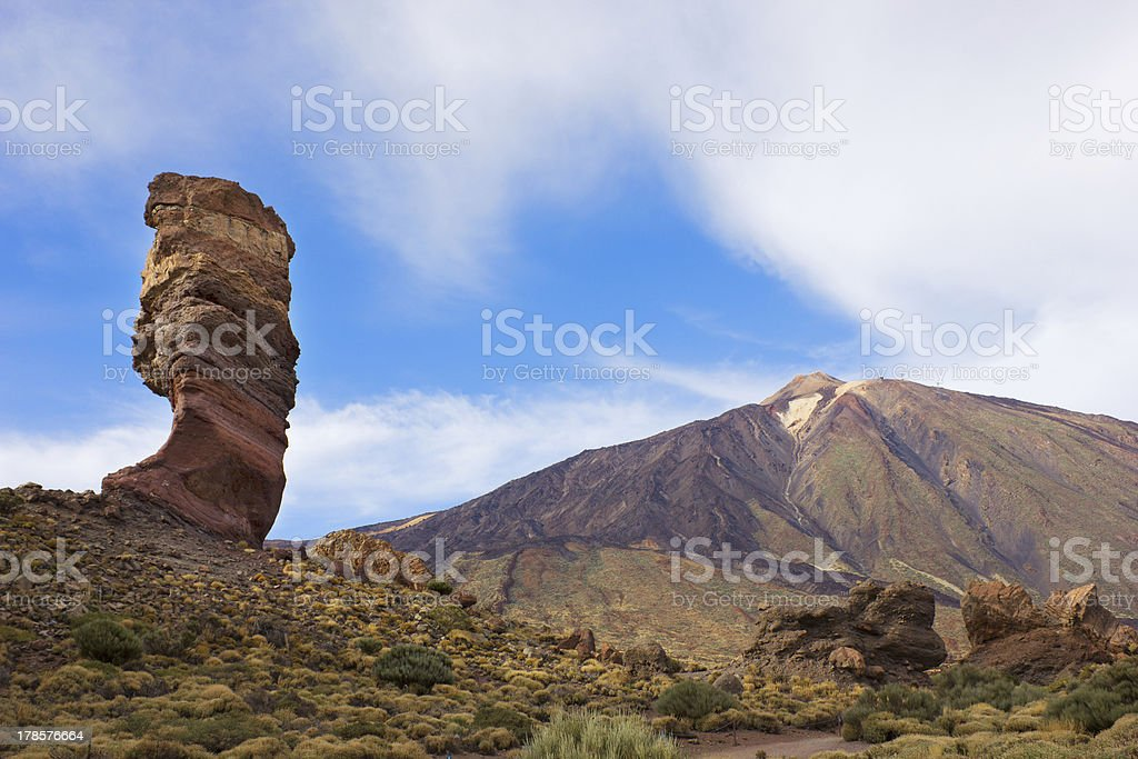 valley of volcano Teide, Tenerife, Spain royalty-free stock photo