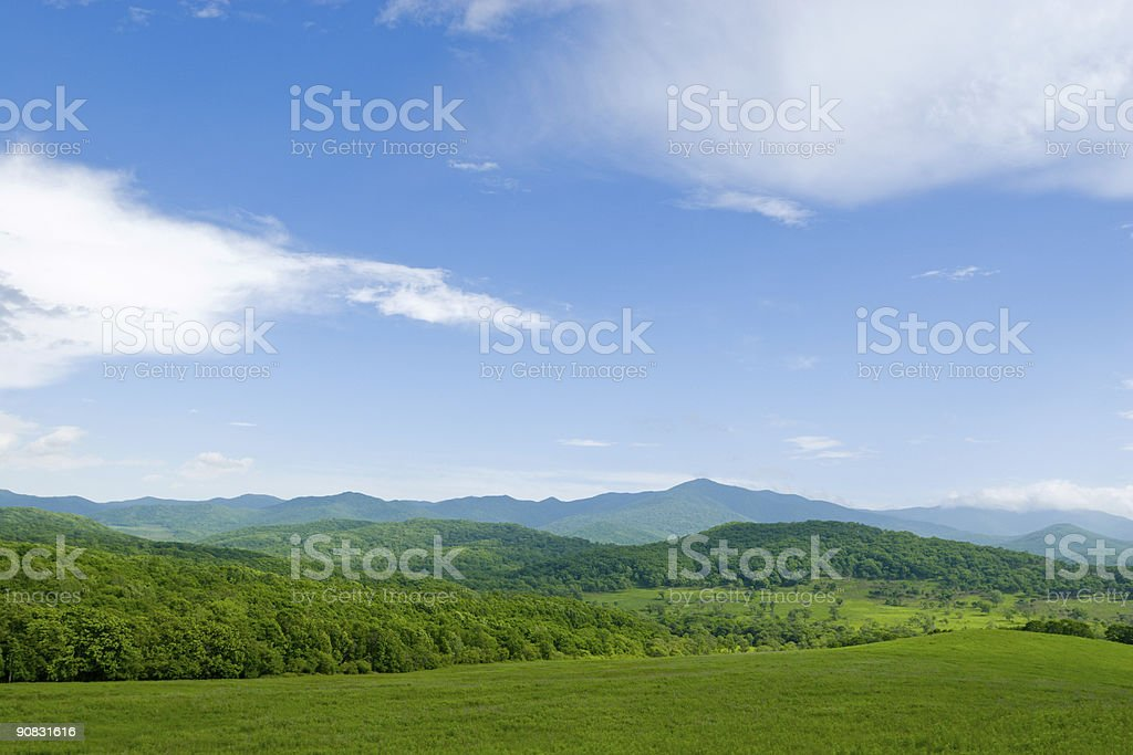 Valley royalty-free stock photo