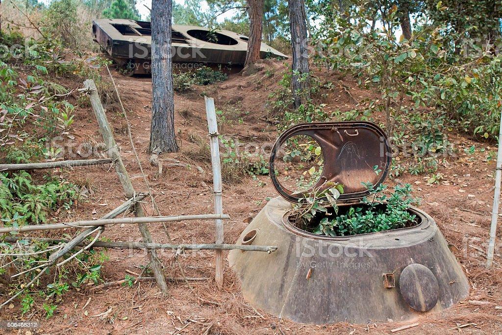 Valley pitchers. Phonsavan, Xiangkhouang province, Laos stock photo