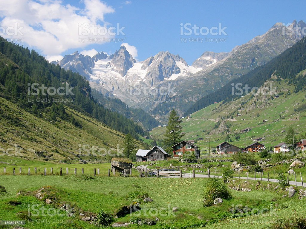 Valley Switzerland royalty-free stock photo