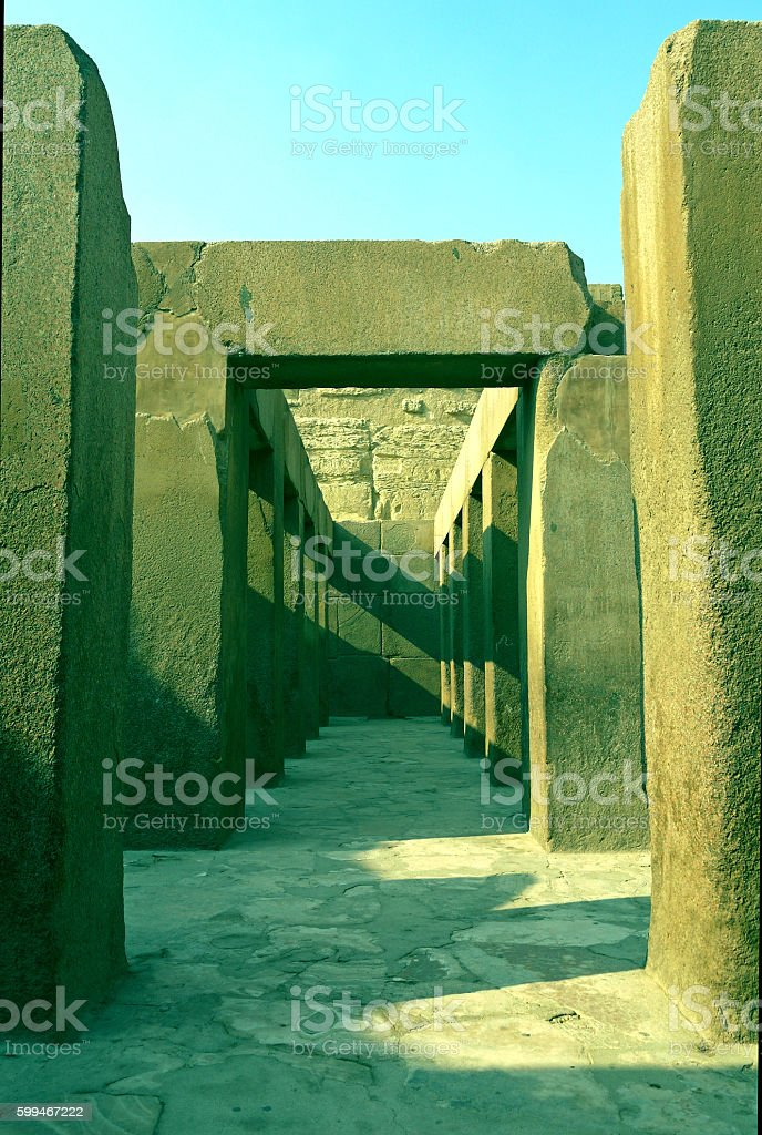 Valley Temple of Khafre, EGYPT stock photo