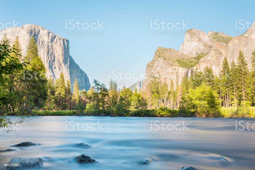 Valley View over the Merced River, Yosemite National Park royalty-free stock photo