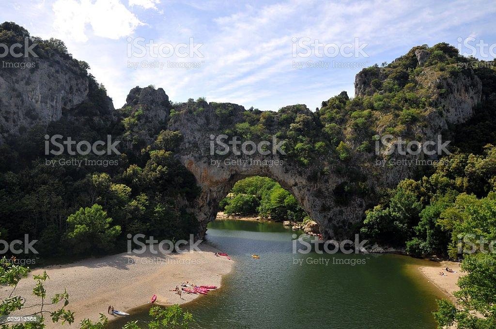 Vallon-Pont-d'Arc stock photo