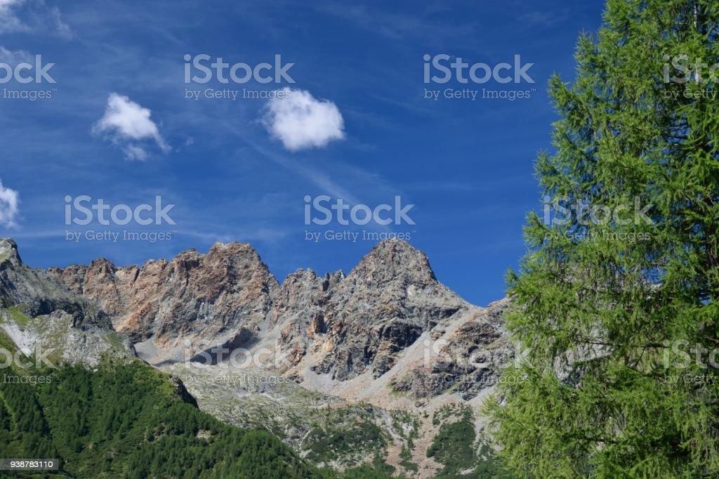 Valmalenco landscape stock photo