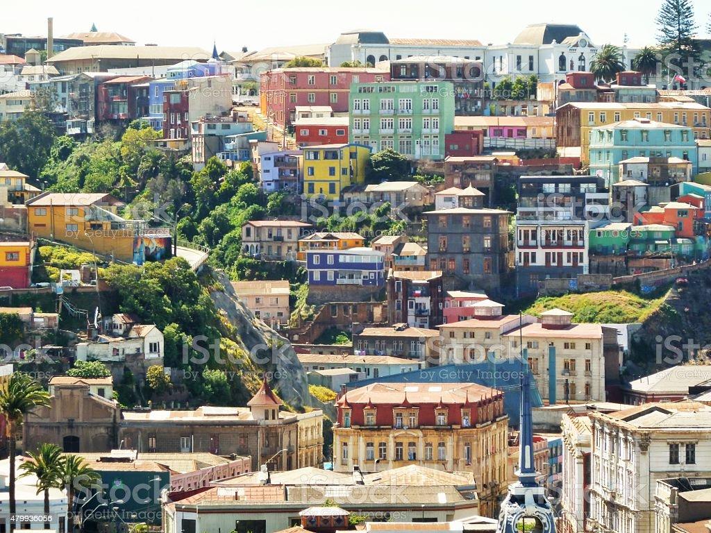 Valparaiso buildings 01 stock photo